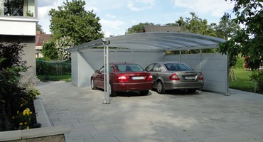 carport bogendach metall