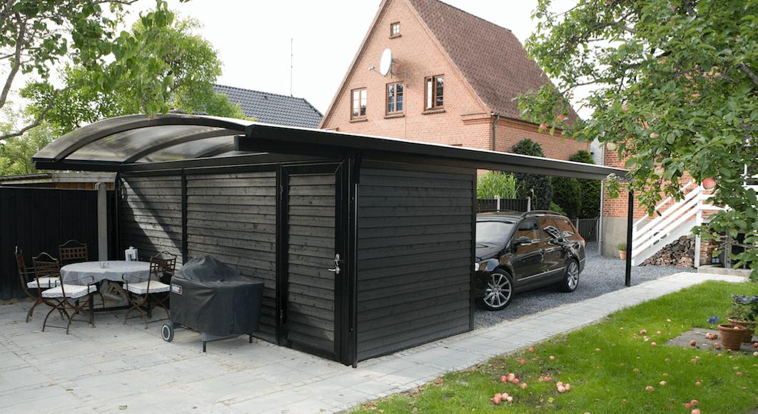 Carport mit Geräteraum in höchster Qualität - Lyngsøe