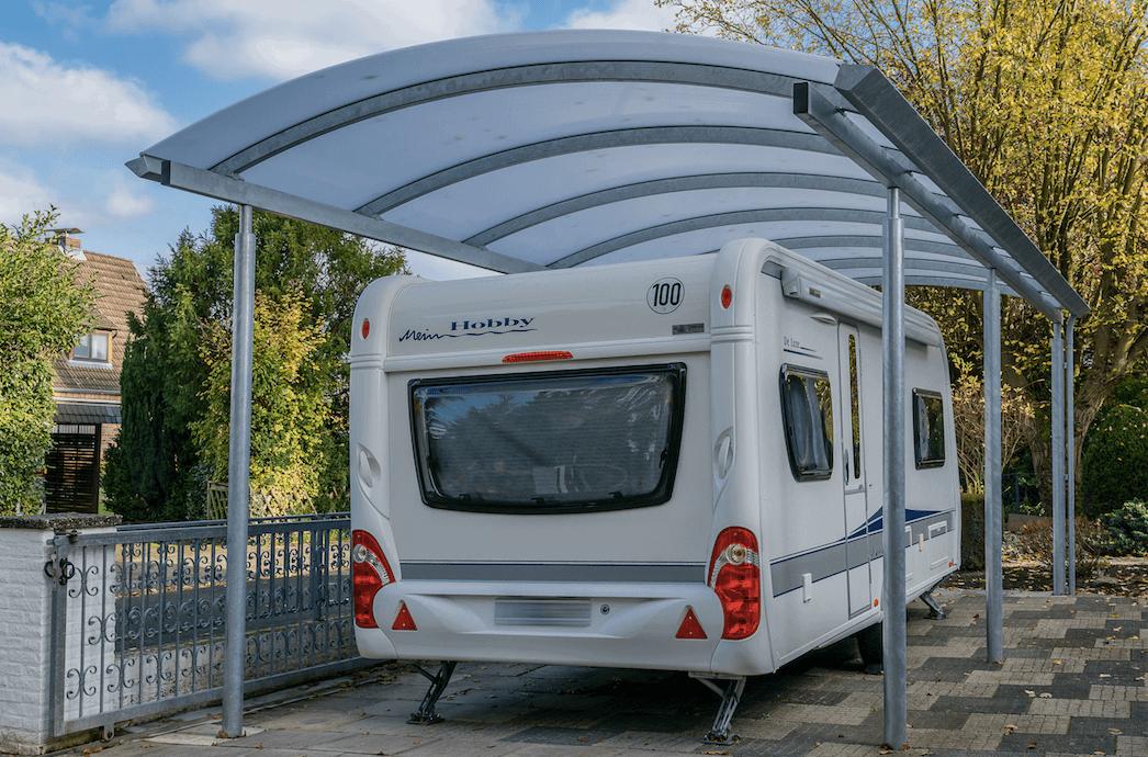 Beliebt Carports für Wohnwagen & Camper, maßgefertigt von Lyngsøe LQ89